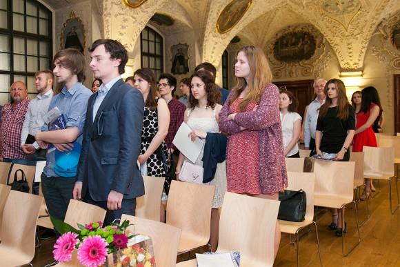 Вручение сертификатов 2015 - UJOP Хлоубетин Карлова университета